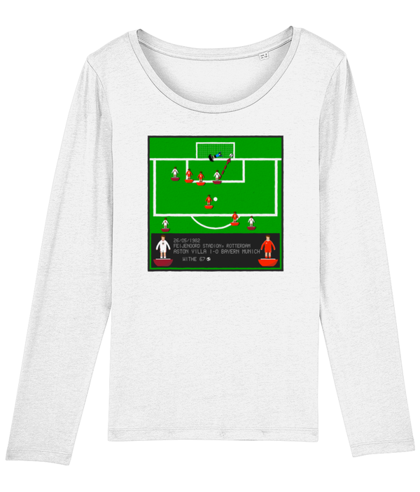 Football Iconic Moment 'Peter Withe  ASTON V v Bayern Munich 1982' Ladies Long Sleeve