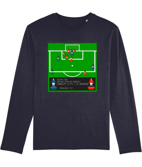 Football Iconic Moment 'Hughie Ferguson CARDIFF  v Arsenal 1927' Men's Long Sleeve
