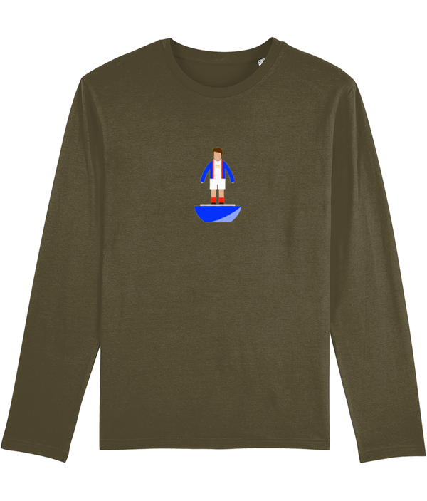 Football Player 'Carlisle 1973 Mini Print' Men's Long Sleeve