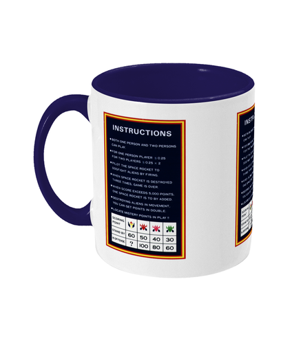 Gaming Arcade 'Galaxian instructions' Mug