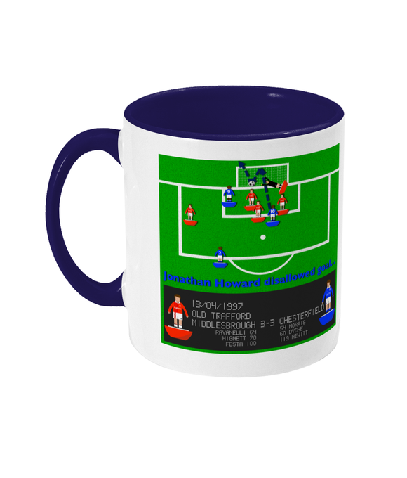 Football Iconic Moment 'Jonathan Howard Middlesbrough v Chesterfield 1997' Mug