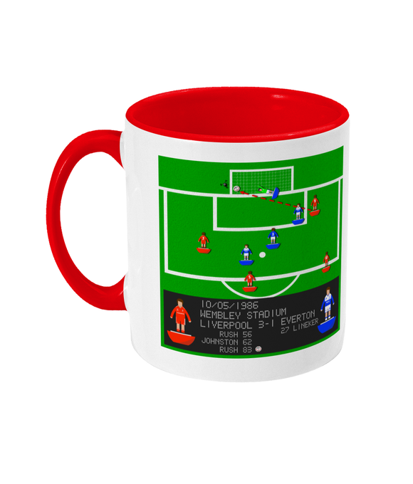 Football Iconic Moment 'Ian Rush Liverpool v Everton 1986' Mug