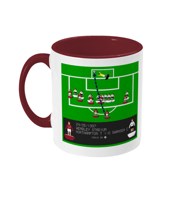 Football Iconic Moment 'John Frain Northampton Town v Swansea City 1997' Mug