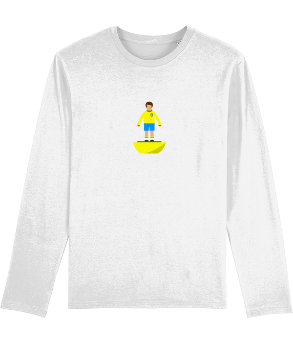 Football Player 'Brazil 1970s Mini Print' Men's Long Sleeve