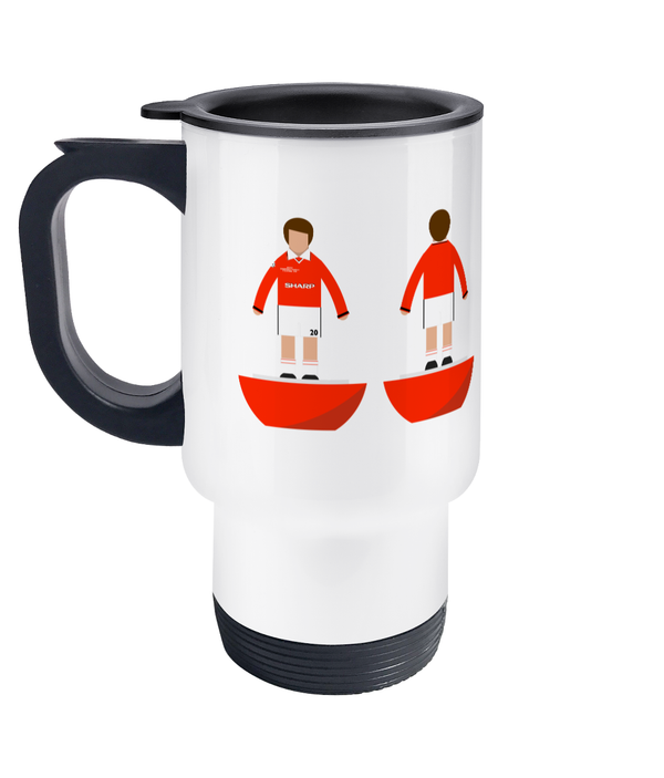 Football Player 'Manchester U 1999 Champions League' Travel Mug