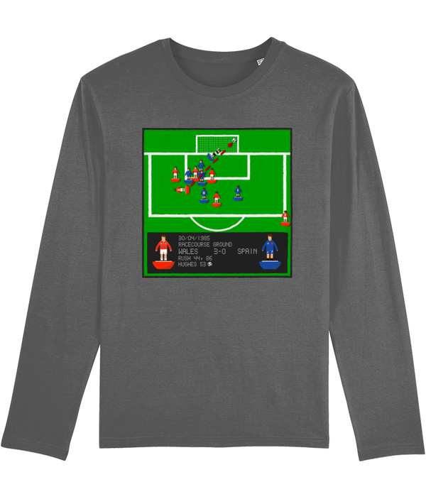 Football Iconic Moment 'Mark Hughes WALES v Spain 1985' Men's Long Sleeve
