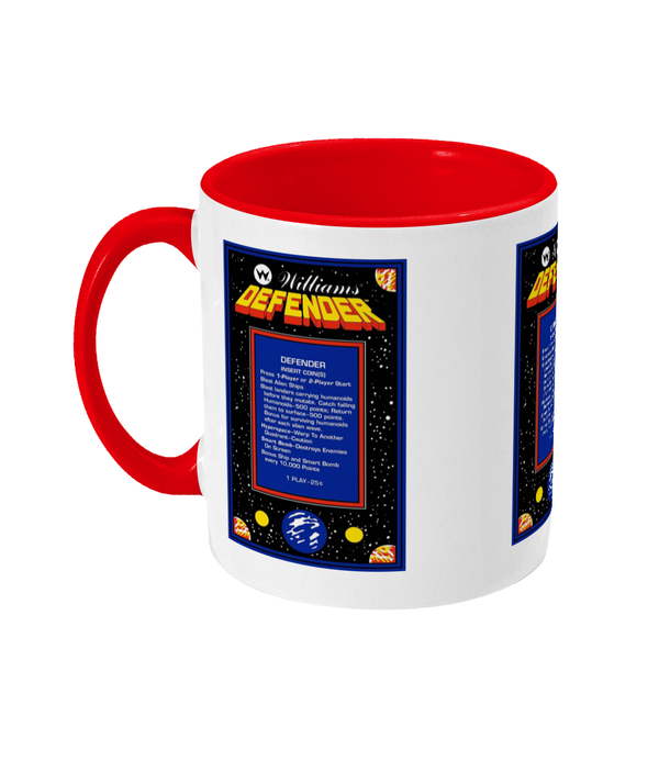 Gaming Arcade 'Defender instructions' Mug