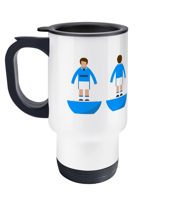 Football Player 'Manchester C 1995' Travel Mug