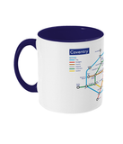 Maps and Signs Tube Map 'Coventry' Mug