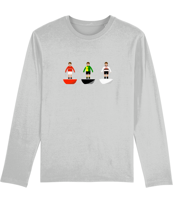 Football Player 'Manchester U Combined Mini Print' Men's Long Sleeve