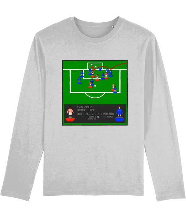 Football Iconic Moment 'Brian Deane SHEFFIELD U v Manchester U 1992' Men's Long Sleeve
