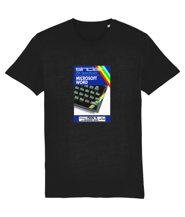 Gaming Sinclair Modern 'PSION Microsoft Word' Unisex T-Shirt