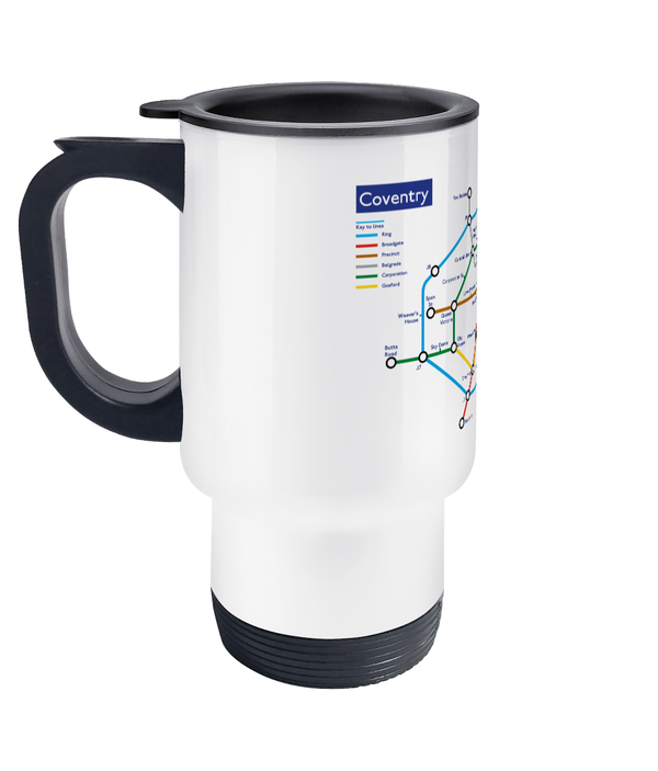 Maps and Signs Tube Map 'Coventry' Travel Mug