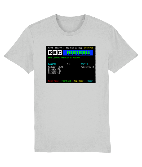 Football Teletext 'RANGERS v Celtic 1988' Unisex T-Shirt