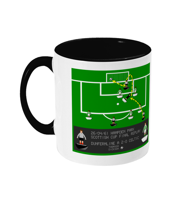 Football Iconic Moment 'Charlie Dickson Dunfermline v Celtic 1961' Mug