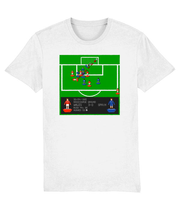 Football Iconic Moment 'Mark Hughes WALES v Spain 1985' Unisex T-Shirt