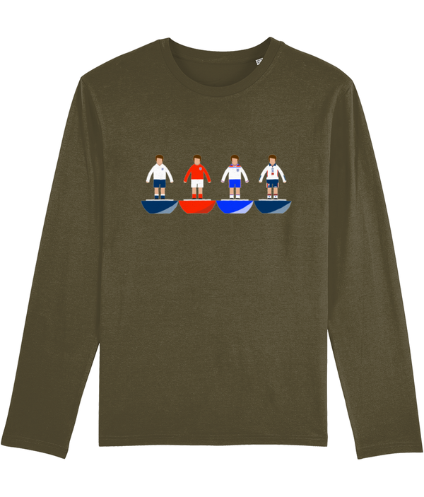 Football Player 'England Combined' Men's Long Sleeve