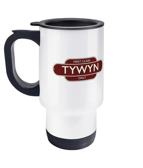 Maps and Signs Station Sign 'Tywyn' Travel Mug