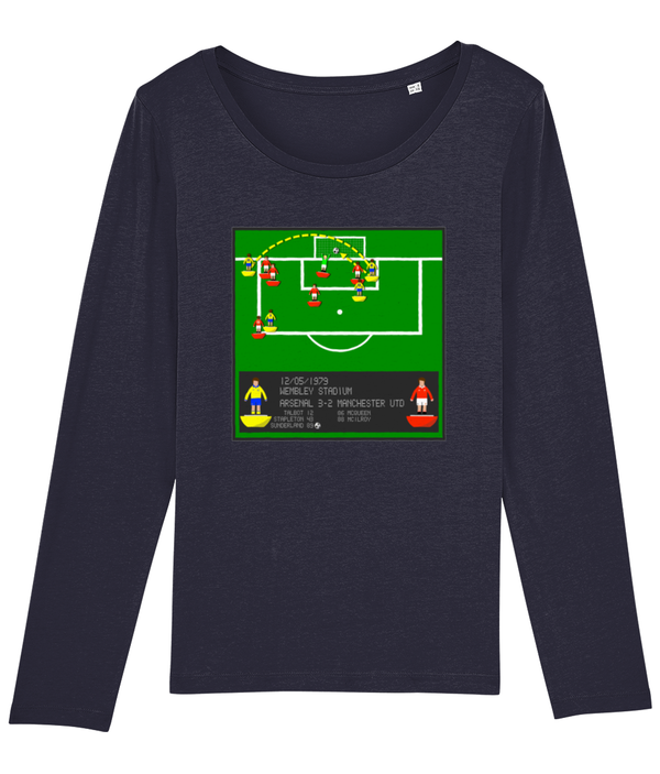 Football Iconic Moment 'Alan Sunderland ARSENAL v Manchester U 1979' Ladies Long Sleeve