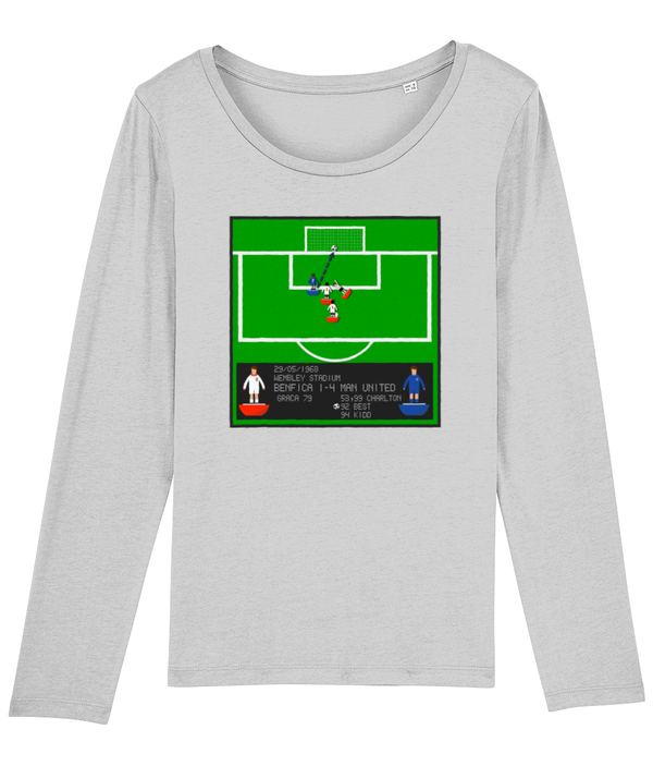 Football Iconic Moment 'George Best Benfica v MANCHESTER U 1968' Ladies Long Sleeve