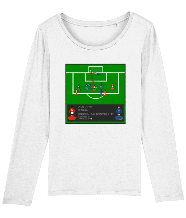 Football Iconic Moment 'Clint Marcelle BARNSLEY v Bradford City 1997' Ladies Long Sleeve