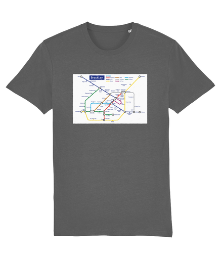 Maps and Signs Tube Map 'Brackley' Unisex T-Shirt