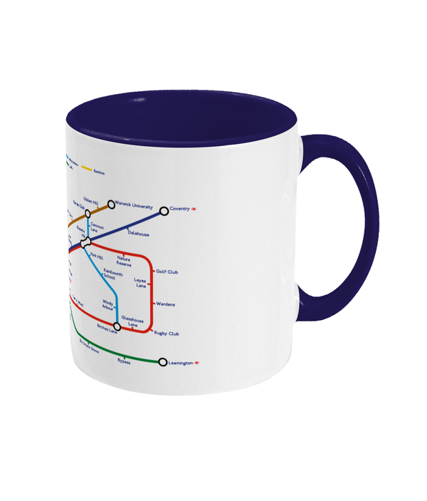 Maps and Signs Tube Map 'Kenilworth' Mug