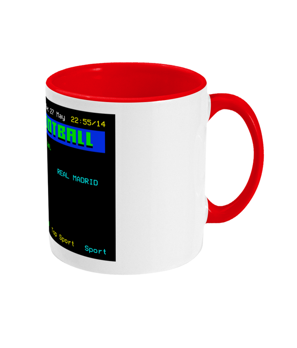 Football Teletext 'LIVERPOOL v Real Madrid 1981' Mug