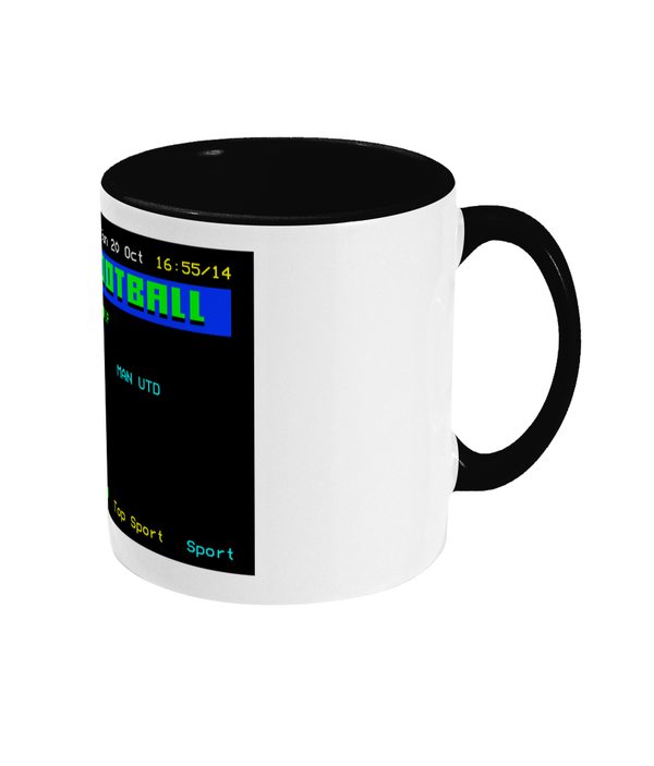 Football Teletext 'NEWCASTLE v Manchester U 1996' Mug