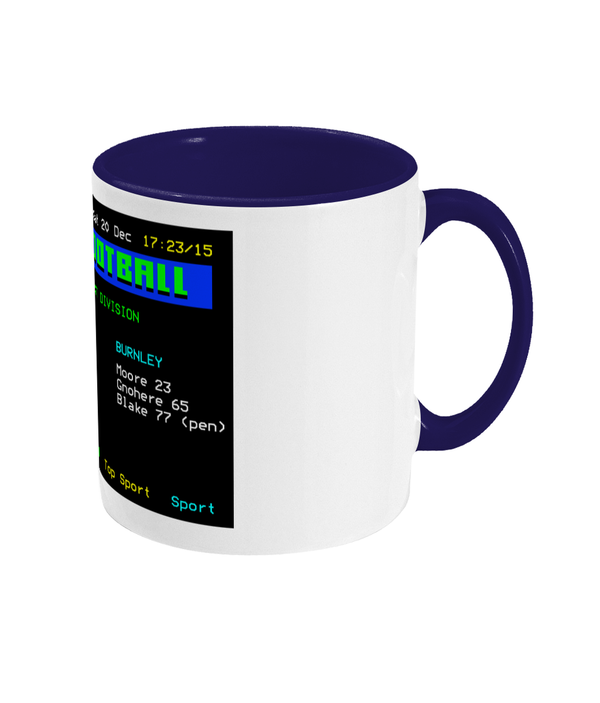 Football Teletext 'PRESTON v Burnley 2003' Mug