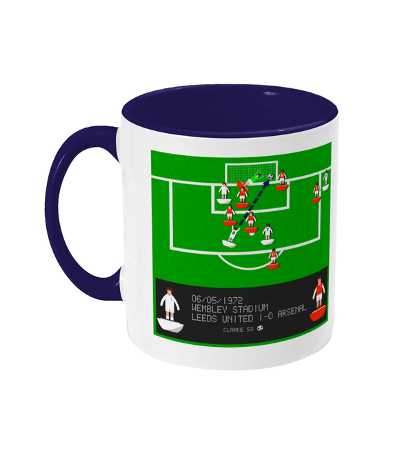 Football Iconic Moment 'Allan Clarke Leeds United v Arsenal 1972' Mug