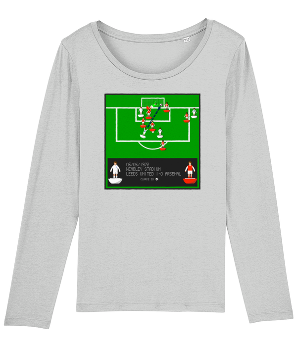 Football Iconic Moment 'Allan Clarke LEEDS  v Arsenal 1972' Ladies Long Sleeve