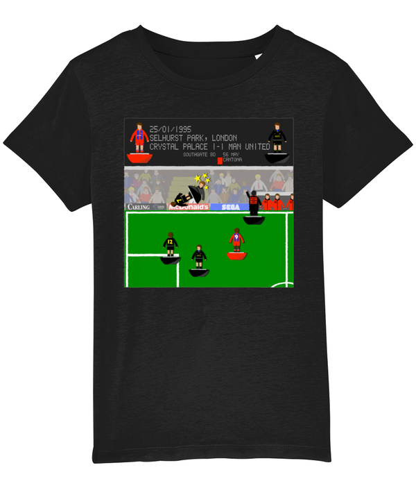 Football Iconic Moment 'Eric Cantona Crystal Palace v MANCHESTER U 1995' Children's T-Shirt