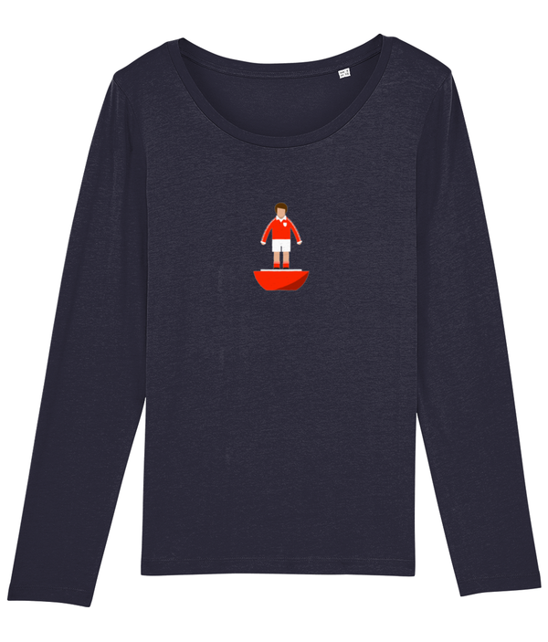 Football Player 'Bristol C 1976 Mini Print' Ladies Long Sleeve