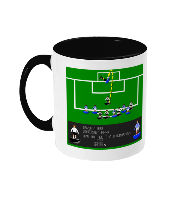 Football Iconic Moment 'Andy Walker Ayr United v Kilmarnock 1999' Mug