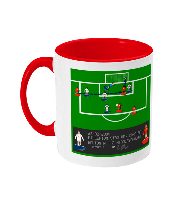 Football Iconic Moment 'Joseph-Desire Job Bolton v MIDDLESBROUGH 2004' Mug
