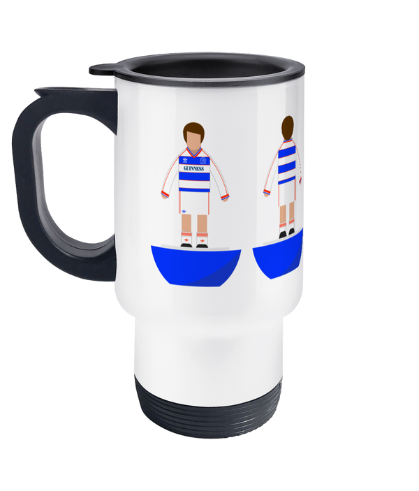 Football Player 'QPR 1986' Travel Mug