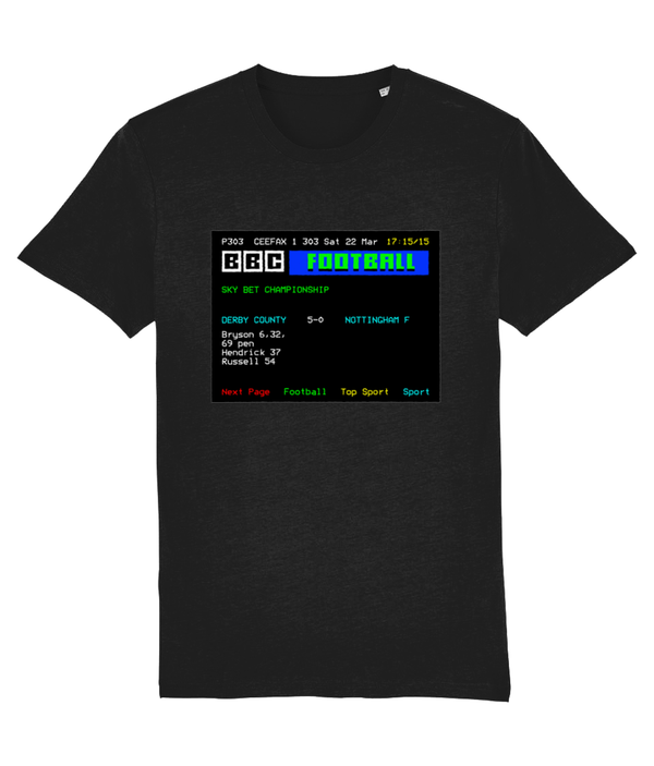 Football Teletext 'DERBY v Nottingham F 2014' Unisex T-Shirt
