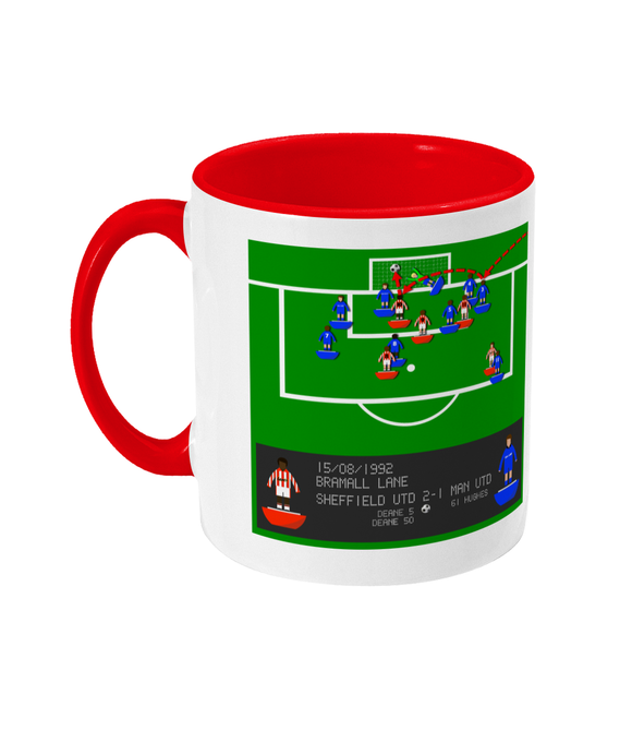 Football Iconic Moment 'Brain Deane Sheffield U v Man United 1992' Mug