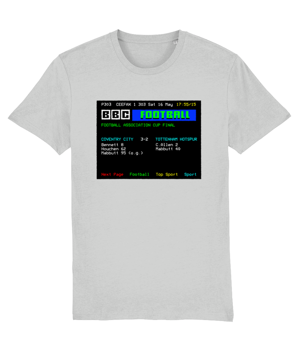 Football Teletext 'COVENTRY v Tottenham 1987' Unisex T-Shirt
