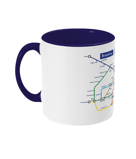 Maps and Signs Tube Map 'Brackley' Mug