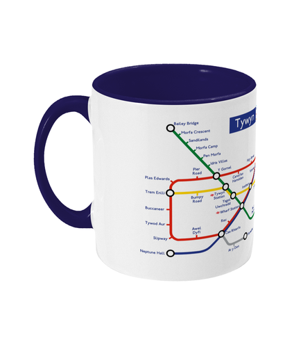 Maps and Signs Tube Map 'Tywyn' Mug