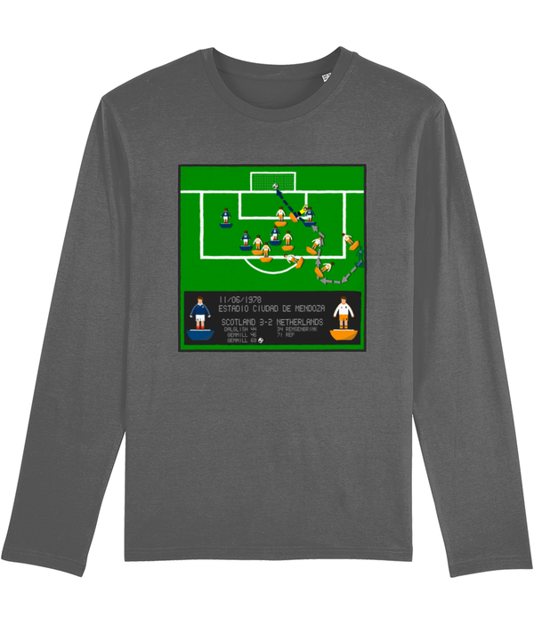 Football Iconic Moment 'Archie Gemmill SCOTLAND v Netherlands 1978' Men's Long Sleeve