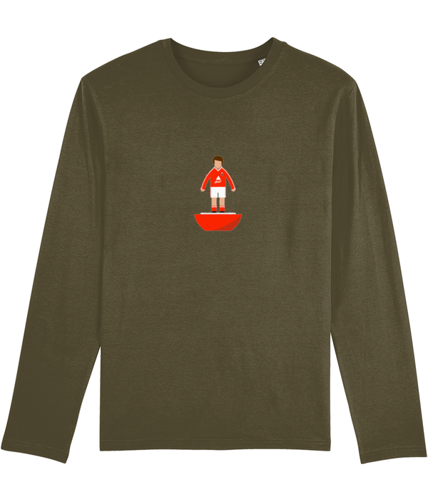 Football Player 'Crewe 1987 Mini Print' Men's Long Sleeve