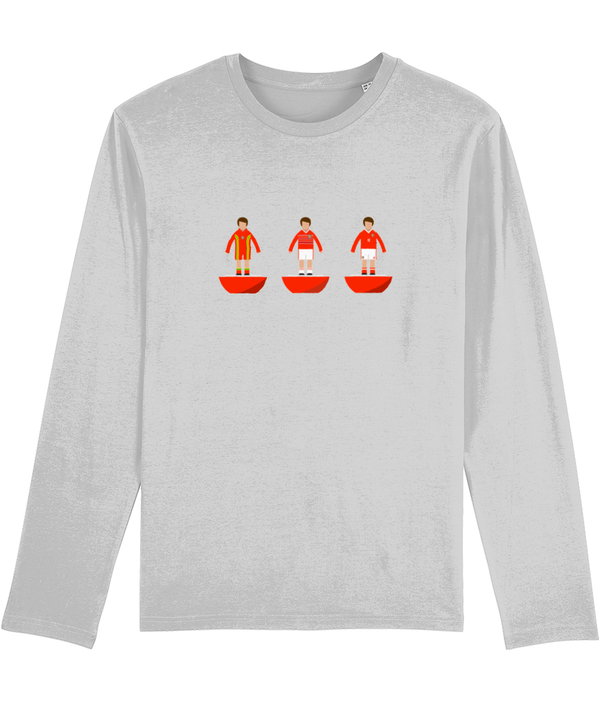 Football Player 'Wales Combined Mini Print' Men's Long Sleeve