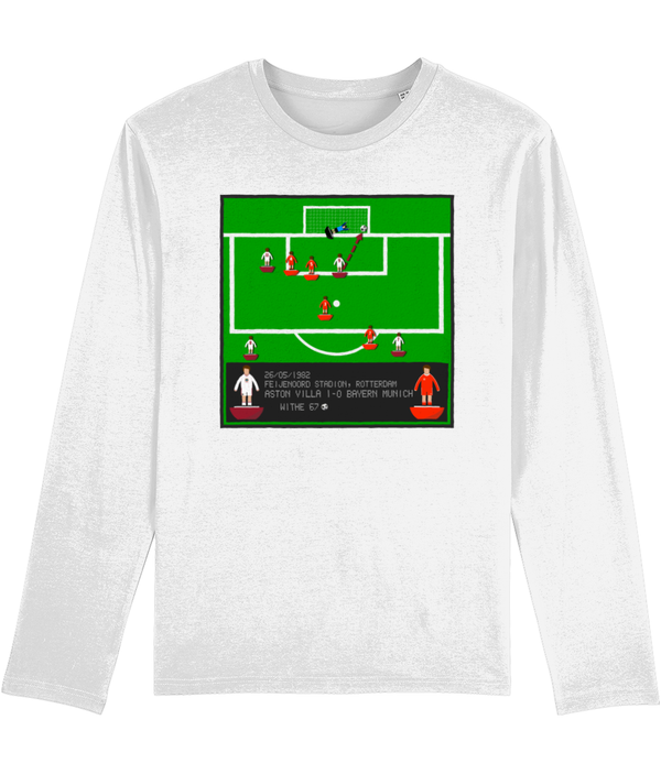 Football Iconic Moment 'Peter Withe  ASTON V v Bayern Munich 1982' Men's Long Sleeve
