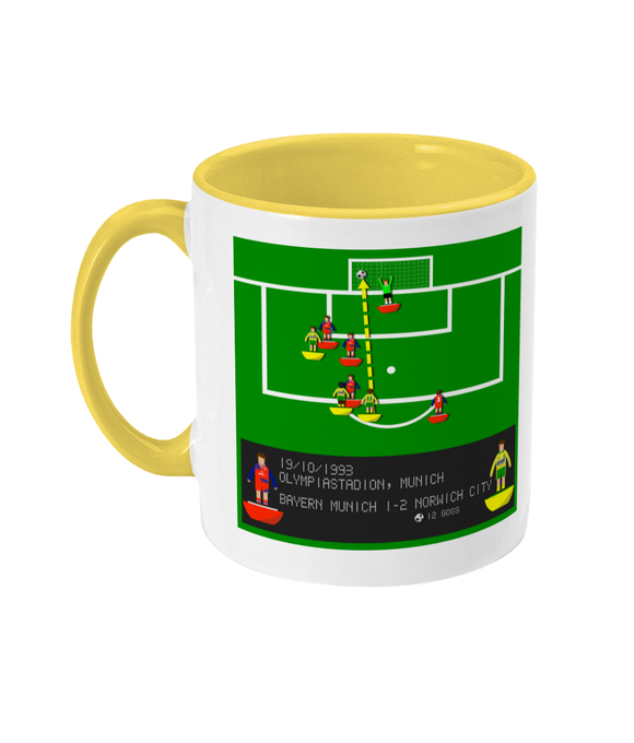 Football Iconic Moment 'Jeremy Goss Bayern Munich v Norwich City 1993' Mug