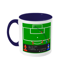 Football Iconic Moment 'Graeme Sharp Liverpool v Everton 1984' Mug