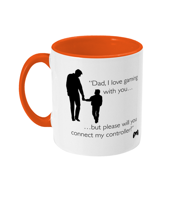 Gaming Gamer Dad 'Will you connect?' Mug