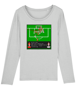 Football Iconic Moment 'Ole Gunnar Solskjaer MANCHESTER U v Bayern Munich 1999' Ladies Long Sleeve